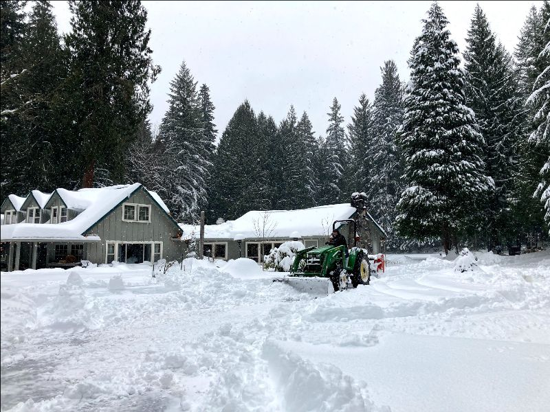 Twenty inches of snow fall at Sanctuary Inn